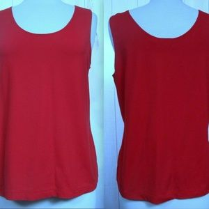 CHICO'S Lipstick Red Stretch Tank Top M/L